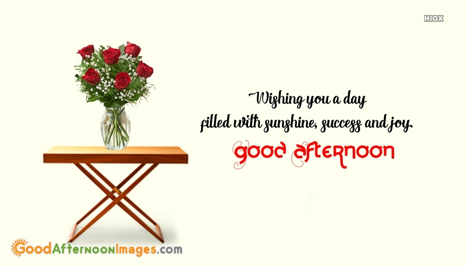 Good Afternoon Best Wishes Quote With Image