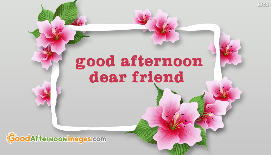 Good Afternoon Dear Friend