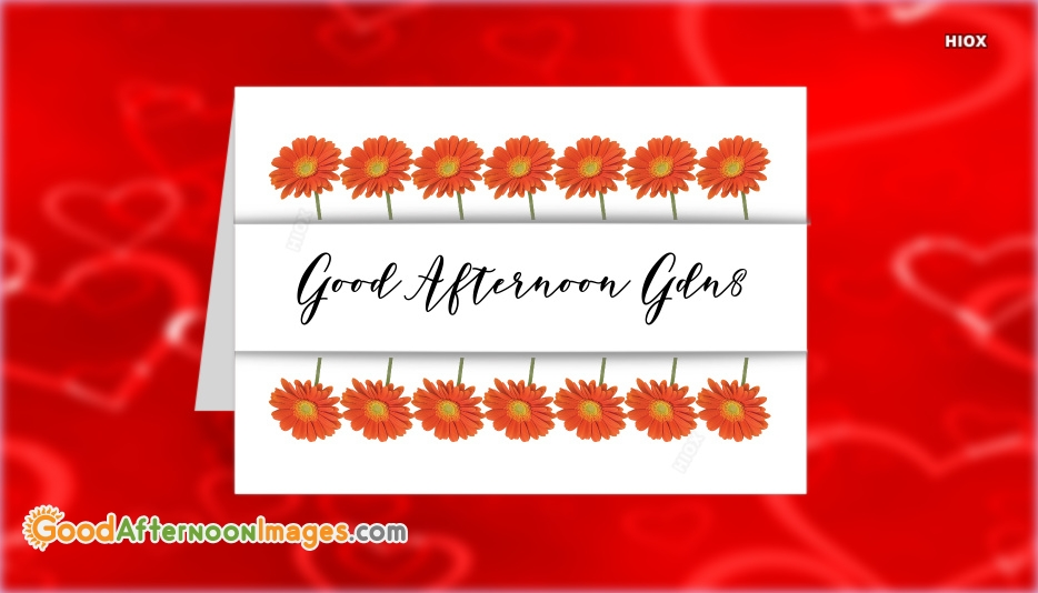 Good afternoon greeting card m4hsunfo
