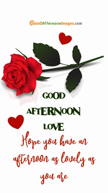 Good Afternoon Love Message