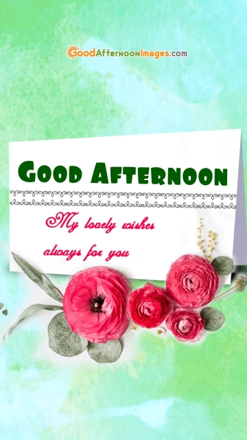 Good Afternoon Lovely Wishes