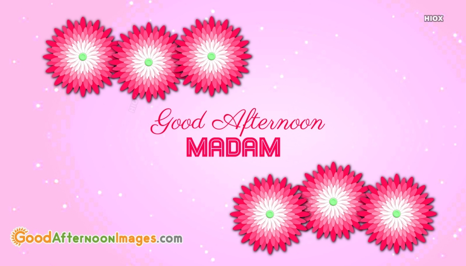 Good Afternoon Madam Images