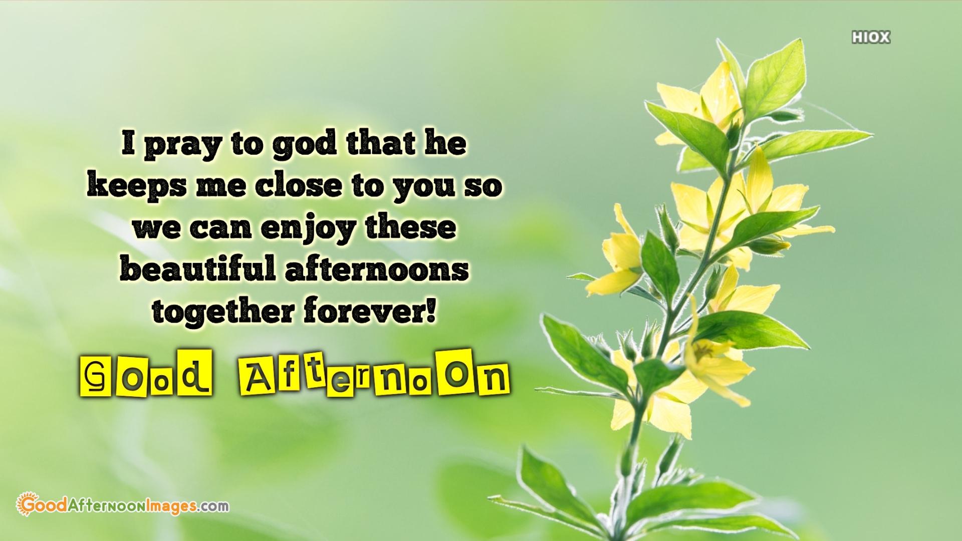 Good Afternoon Prayer Wishes