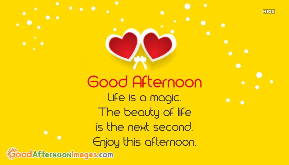 Good Afternoon Message For Friends