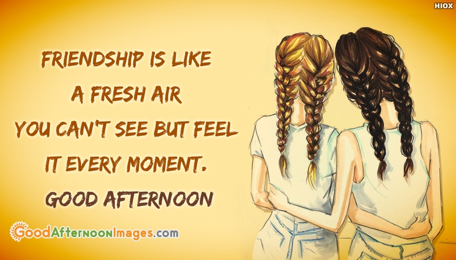 Good Afternoon SMS in English for Friends - Friendship Is Like A Fresh Air You Can