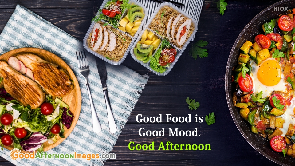 Good Afternoon Wishes With Food Image