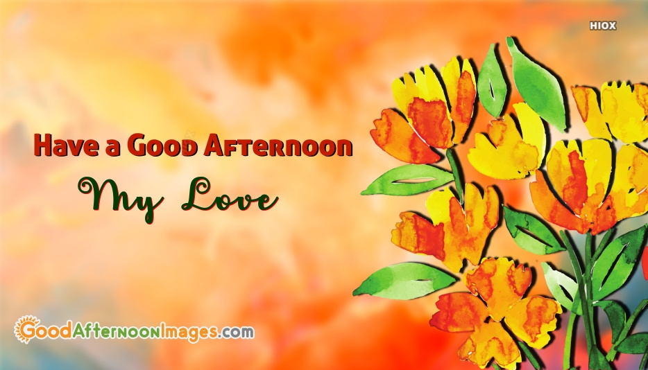 Have A Good Afternoon My Love
