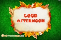 Good Afternoon SMS In English