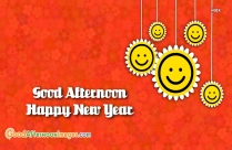 Good Afternoon Happy New Year Image