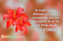 Good Afternoon Wishes Quote