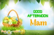Good Afternoon Mam