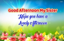 Good Afternoon My Sister, Hope You