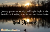 Good Afternoon Nature Quotes