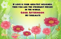 Good Afternoon Romantic SMS