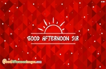 Good Afternoon Sir Wishes Image