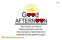 Good Afternoons Quotes About Smile
