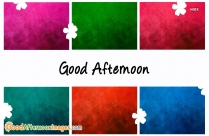 Good Afternoon Wish Wallpaper