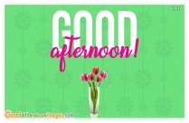 Good Afternoon Wishes In English