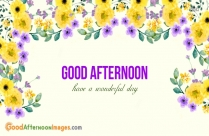 Good Afternoon Wishes Photos