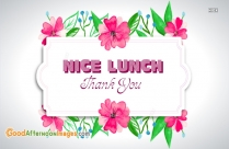 Thank You Image For Lunch