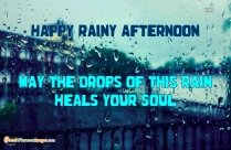Rainy Good Afternoon Wishes Quotes