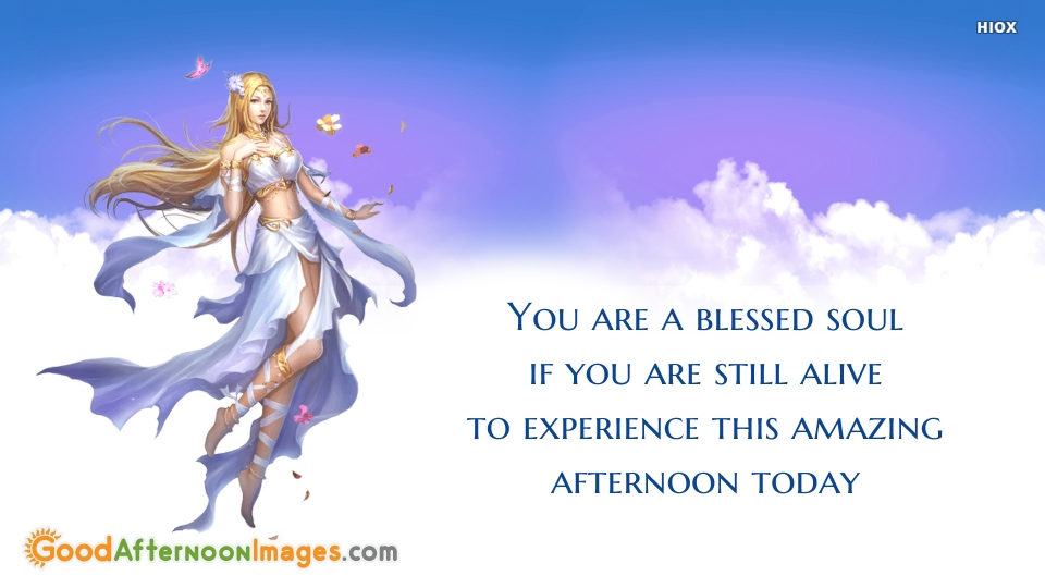 You Are A Blessed Soul If You Are Still Alive To Experience This Amazing Afternoon